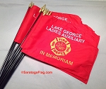 .FIRE DEPT STICK FLAG- 08x12 inch Handheld- CUSTOM